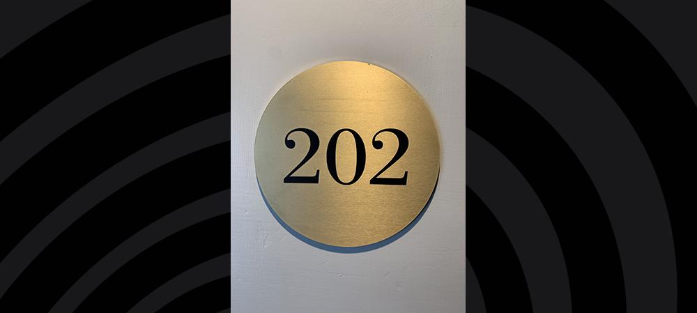 202 number signage
