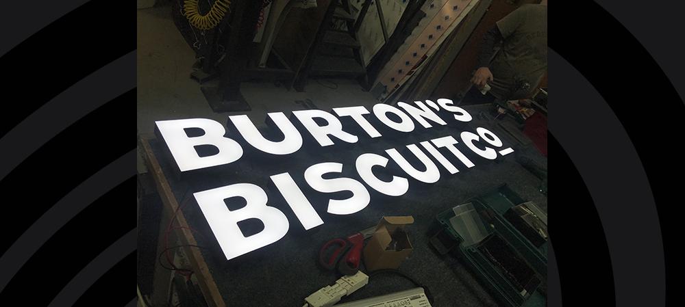burtons biscuit general signage