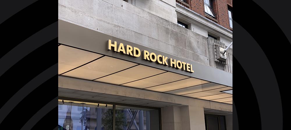 hard rock external entrace signage