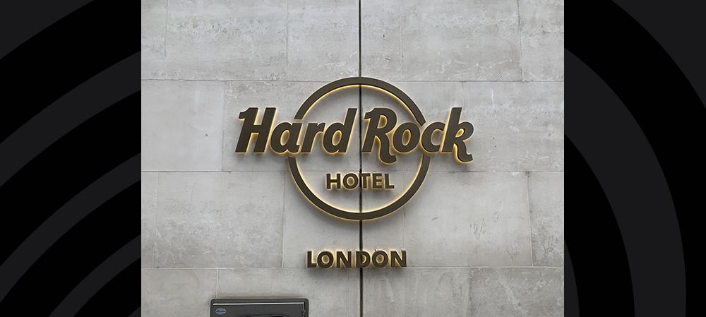 hard rock london signage