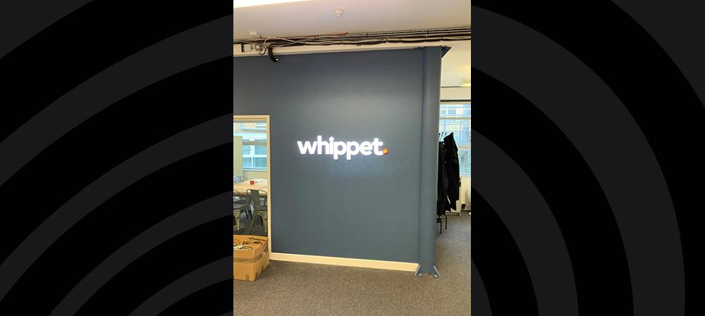 whippet illuminated internal signage