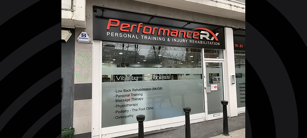 performance personal training external signage