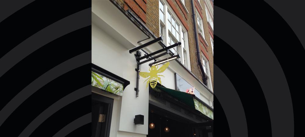 hanging signage