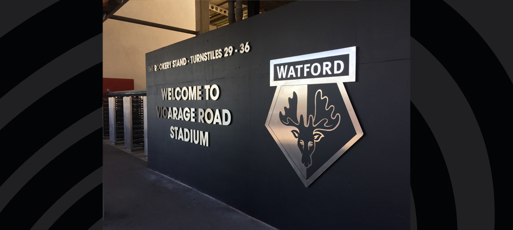 watford FC welcome signage