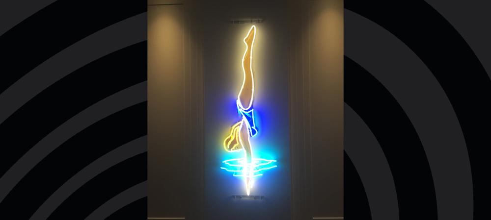 bespoke illuminated diver sign