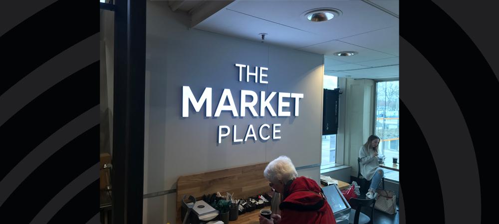 the market place signage