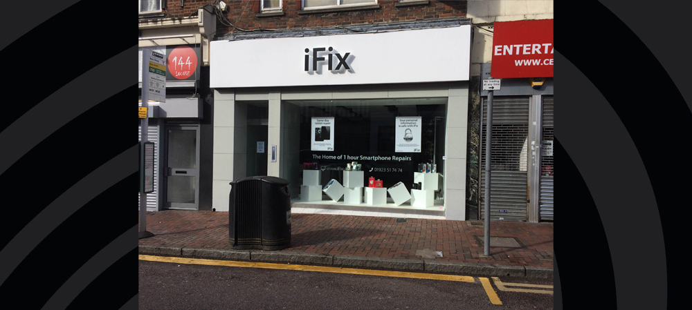 iFix store front signage