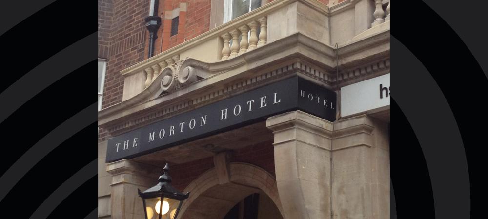 the morton hotel signage