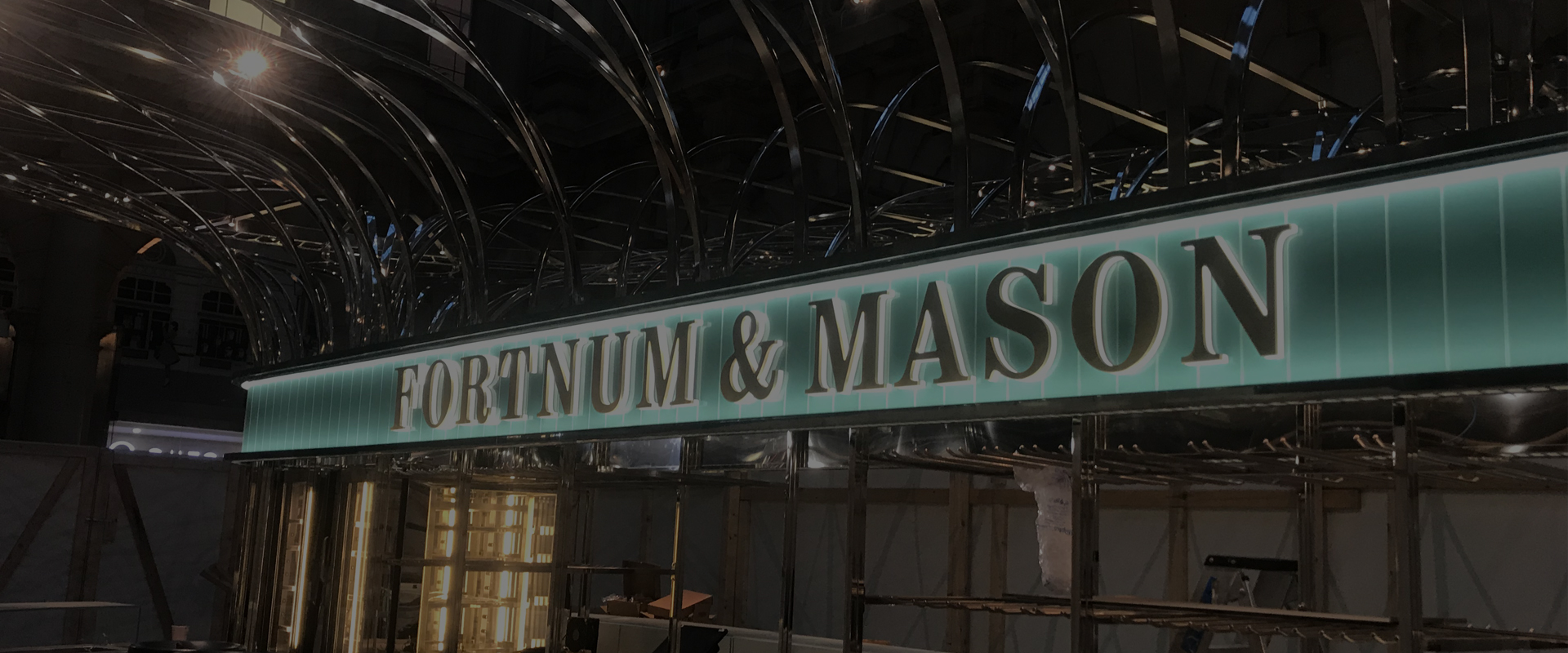 fortnum & mason internal illuminated signage