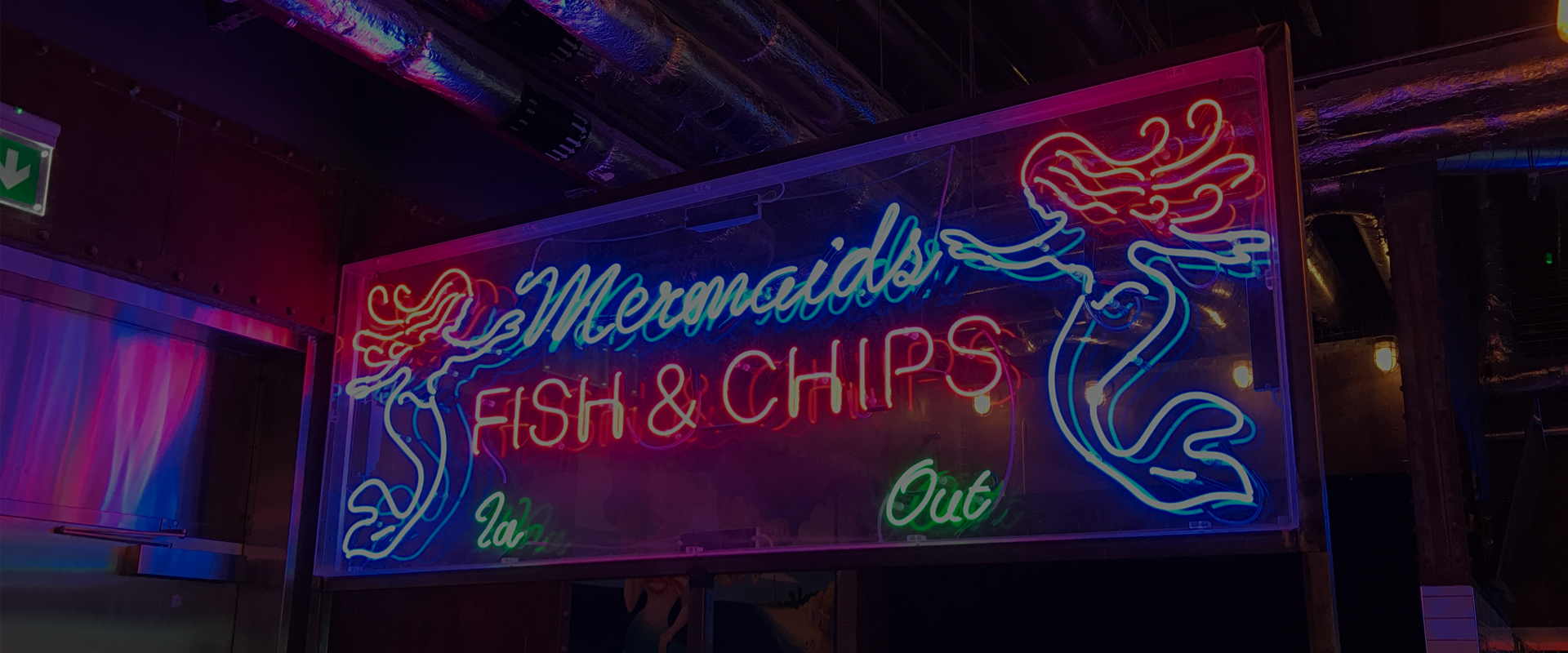 neon illuminated internal signage