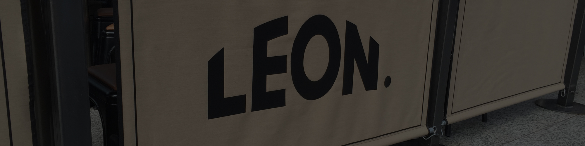 cafe style banner for leon