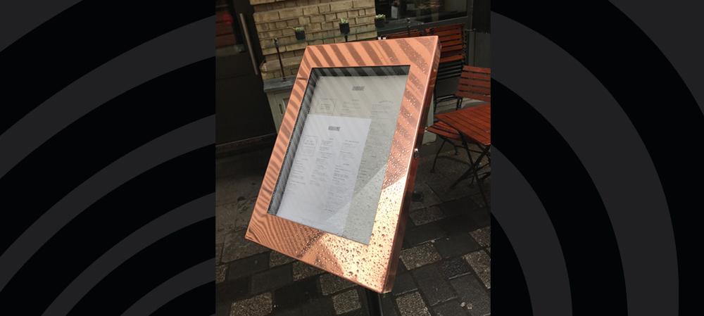 rose gold menu box