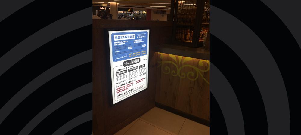 illuminated menu box