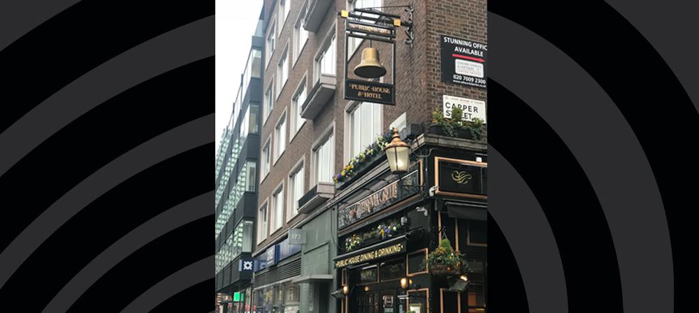 pub hanging signage