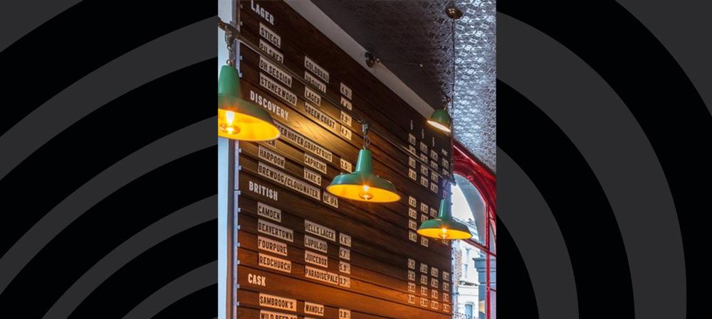 drinks menu design and installation