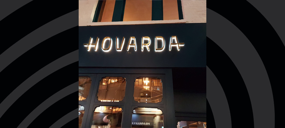 hovarda external illuminated sign