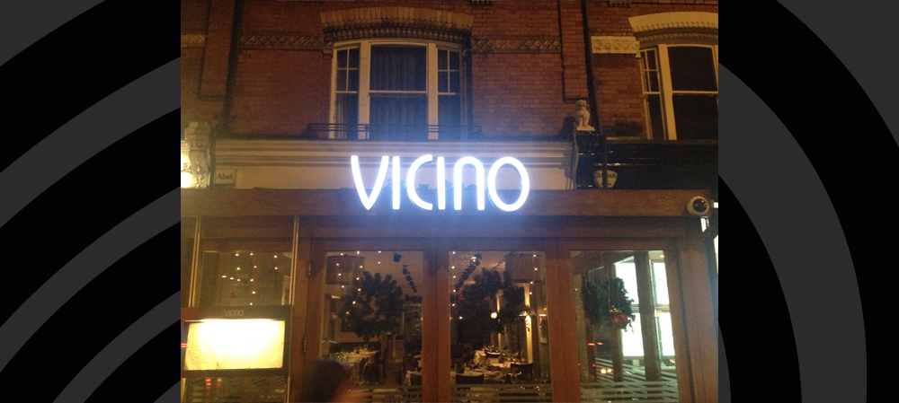 vicino illuminated signage