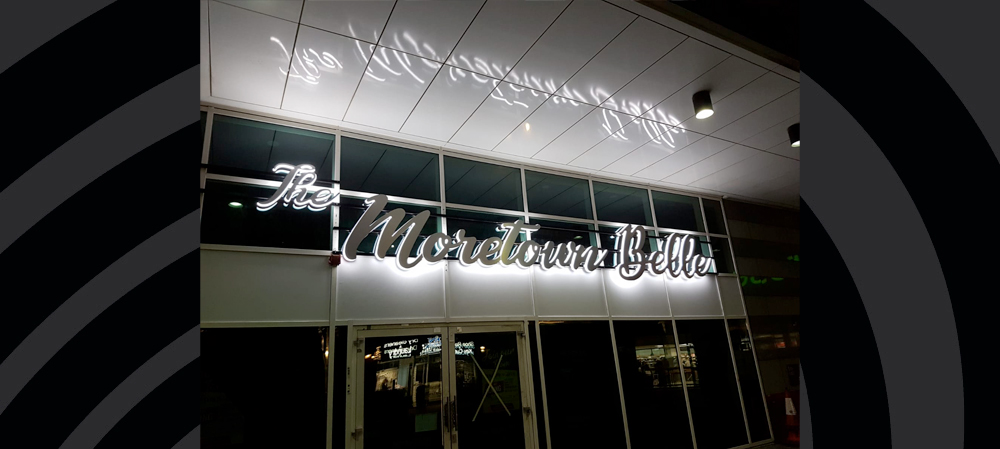 illuminated signage for bar