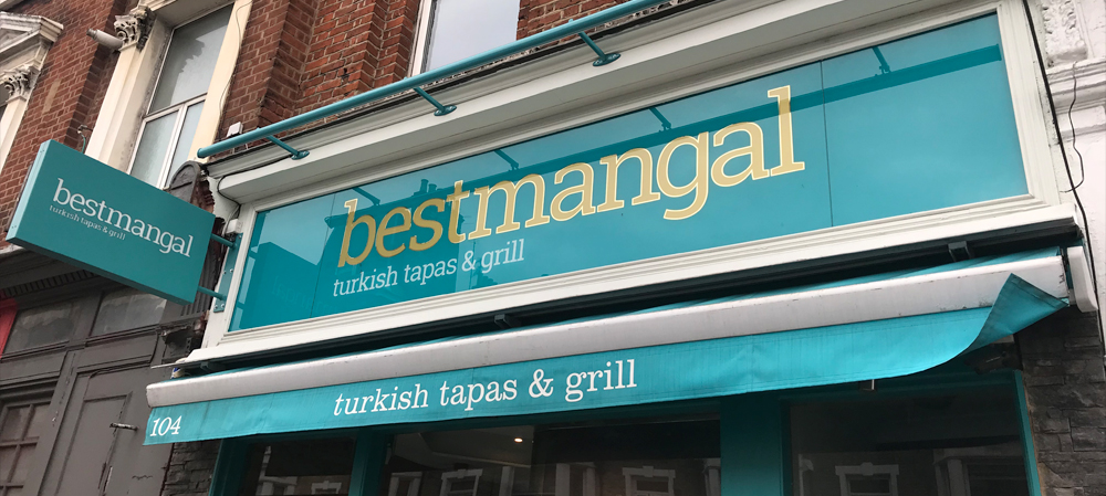 best mangal external shopfront signage