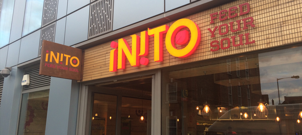 inito illuminated store front sign