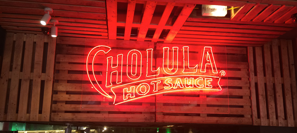 hot sauce illuminated internal sign