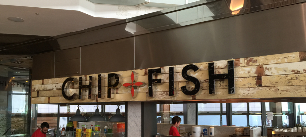chip & fish internal shop signage