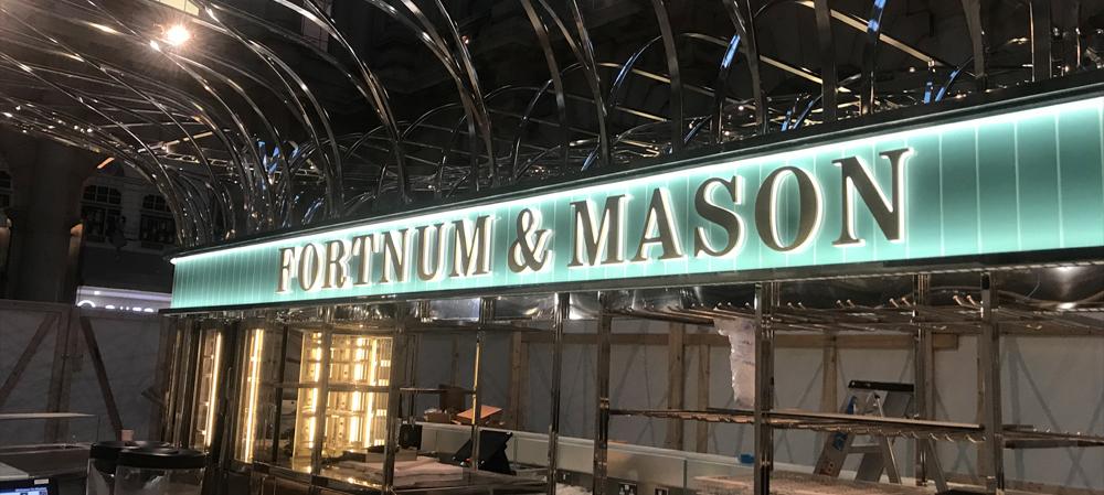 fortnum nad mason illuminated signage