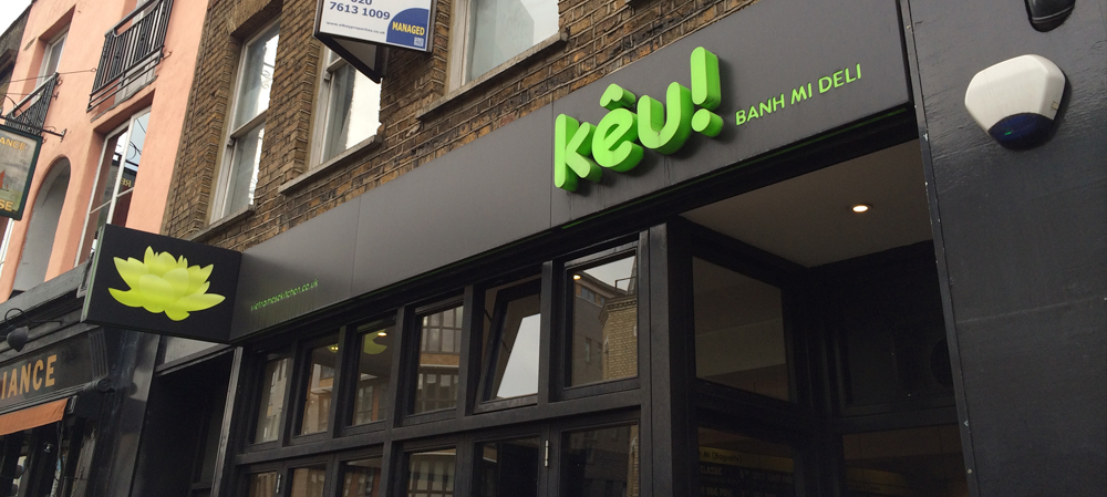 external shop front signage for keu