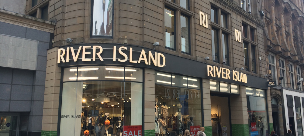 external signage for river island