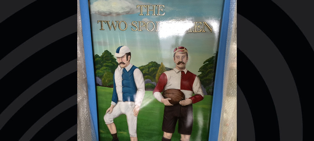 the two sportsmen traditional sign