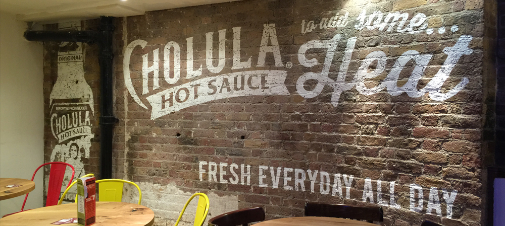 bespoke wall graphics for restaurant