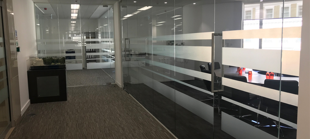 frosted vinyl lines on glass doors
