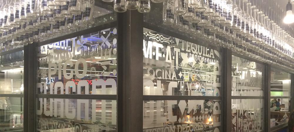 vinyl text on glass windows