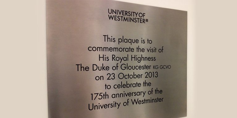 university of westminster engraving